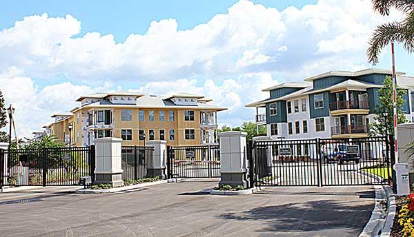 Access Control Gates Crosstown Walk Apartments