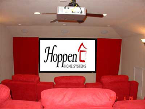Hoppen Home Systems Red Home Theater