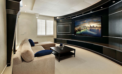 Behren's luxury home theater design and installation