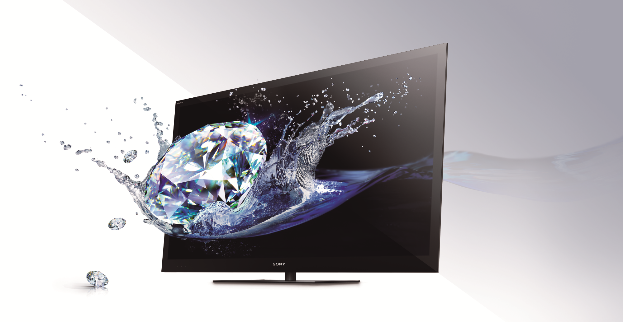 sony xbr tv with diamond popping out