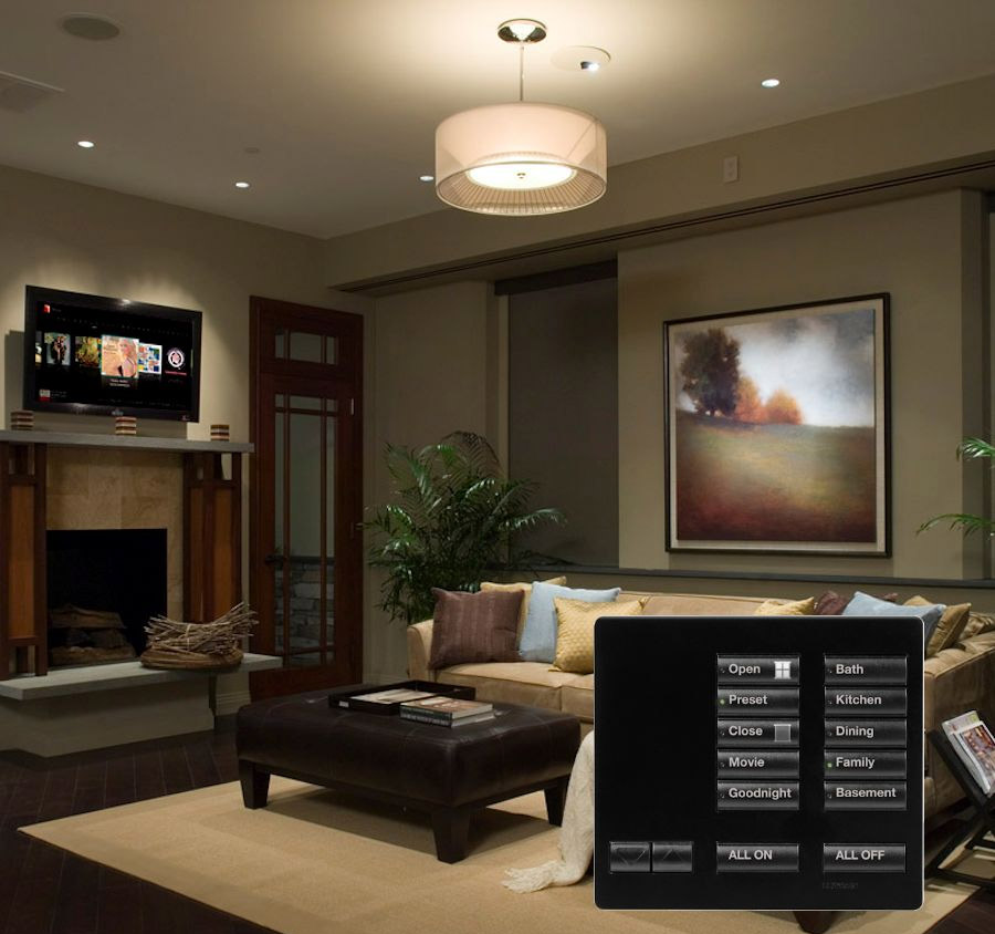 Fusion Home Systems - Lutron Living Room