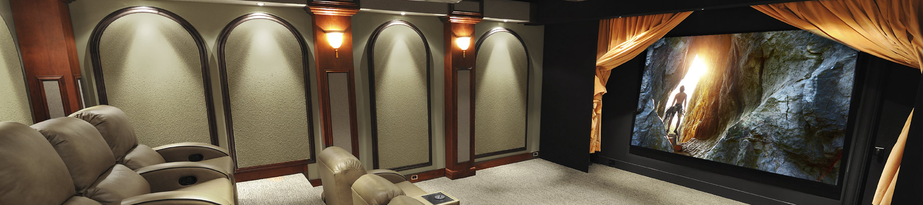 Custom designed dedicated home theaters