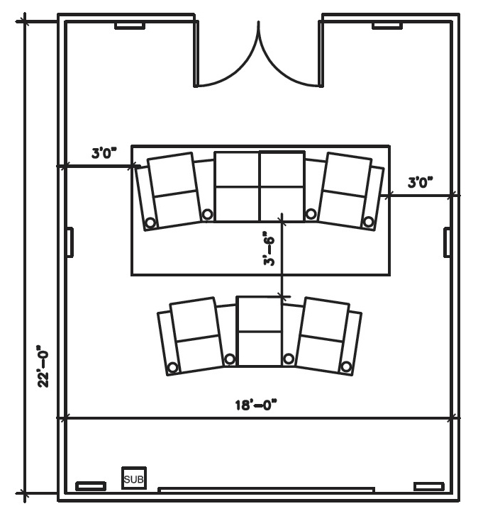 Image gallery home theater dimensions - Home theatre design layout ...