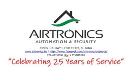 Airtronics Security celebrating 25 years of service
